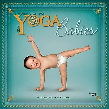 2014 Yoga Babies Wall Calendar, 12in. x 12in.
