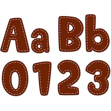 Creative Teaching Press™ Designer Letter, Stitches, Brown