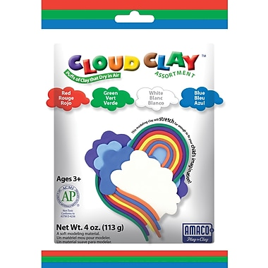 Amaco® Assorted 4 oz. Cloud Clay, Blue, Green, Red, White