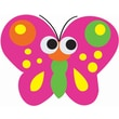 Ashley® Magnetic Whiteboard Eraser, Butterfly, Grades All