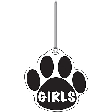 Ashley® Girls Paw Hall Pass, Black