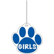 Ashley® Girls Paw Hall Pass, Blue