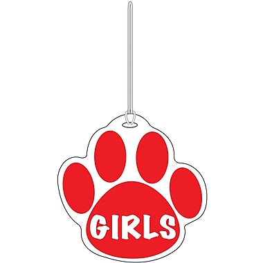Ashley® Girls Paw Hall Pass, Red