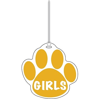 Ashley® Girls Paw Hall Pass, Gold