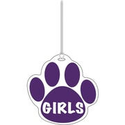 Ashley® Girls Paw Hall Pass, Purple