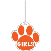 Ashley® Girls Paw Hall Pass, Orange