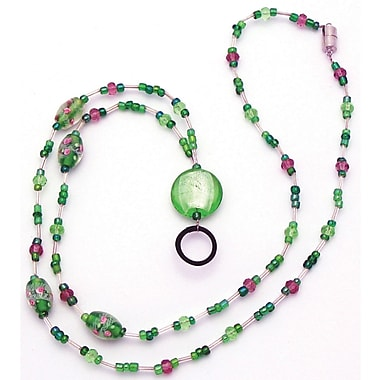 Ashley® Identification Holder and Beaded Lanyard, Rose Green