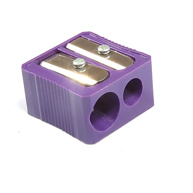 Baumgartens® Dual Hole Plastic Pencil Sharpener, Purple