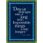 BARKER CREEK & LASTING LESSONS Poster, Impossible Things Take Longer