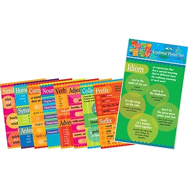 BARKER CREEK & LASTING LESSONS New Grammar Poster Set, Study Skills, Motivational