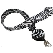 Bonitas International Zebra Retractable Ribbon Lanyard