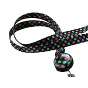 Bonitas International Rockin' Dots Retractable Ribbon Lanyard
