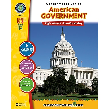 Classroom Complete Press® American Government Workbook, Grades 5th - 8th