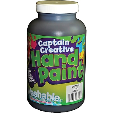 Captain Creative™ 16 oz. Washable Hand Paint, Brown