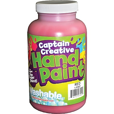 Captain Creative™ 16 oz. Washable Hand Paint, Red