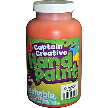 Captain Creative™ 16 oz. Washable Hand Paint, Orange