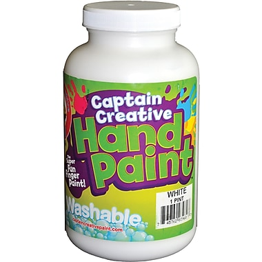 Captain Creative™ 16 oz. Washable Hand Paint, White