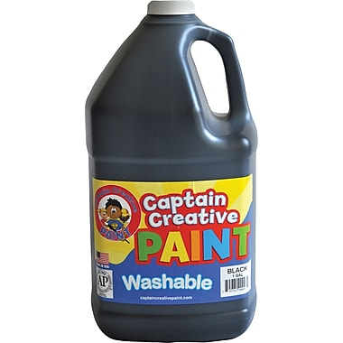 Captain Creative™ 1 Gal Washable Paint, Black