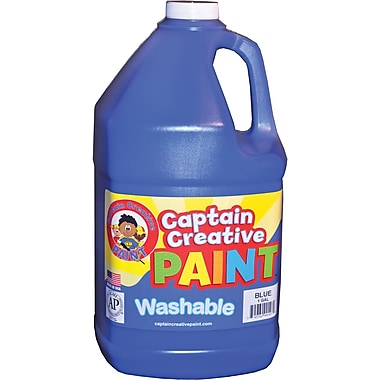 Captain Creative Non-toxic 128 oz. Washable Paint, Blue (CCR9010G)