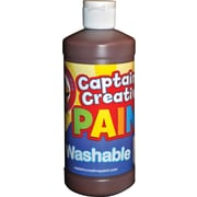 Captain Creative Non-toxic 16 oz. Washable Paint, Brown (CCR901516)