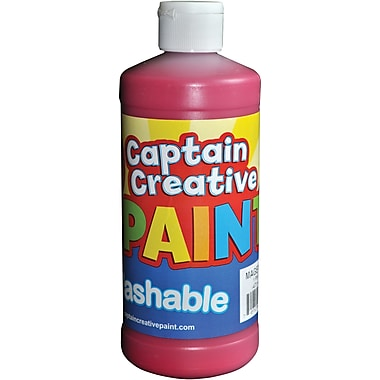 Captain Creative Non-toxic 16 oz. Washable Paint, Magenta (CCR903516)
