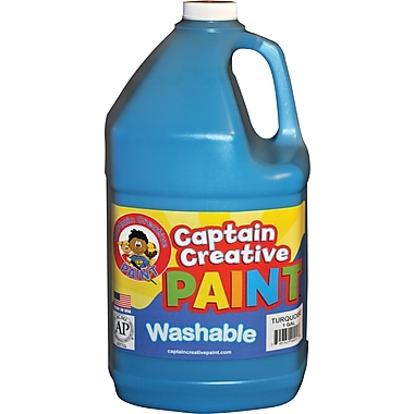 Captain Creative™ 1 Gal Washable Paint, Turquoise