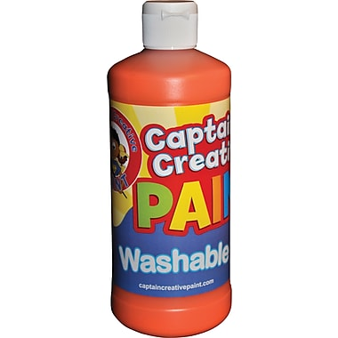 Captain Creative™ 16 oz. Washable Paint, Orange