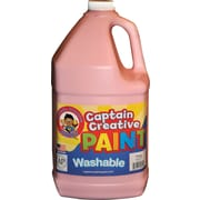 Captain Creative Non-toxic 128 oz. Washable Paint, Pink (CCR9051G)
