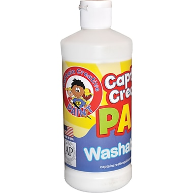 Captain Creative™ 16 oz. Washable Paint, White
