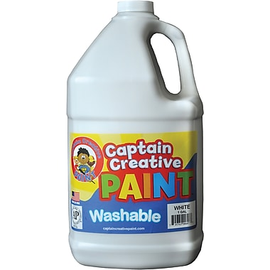 Captain Creative™ 1 Gal Washable Paint, White