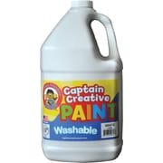 Captain Creative Non-toxic 128 oz. Washable Paint, White (CCR9060G)