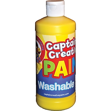 Captain Creative™ 16 oz. Washable Paint, Yellow
