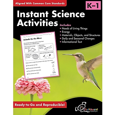 Chalkboard Publishing Instant Science Activities Workbook, Grades Kindergarten - 1st