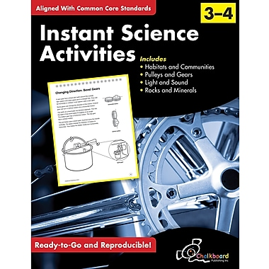 Chalkboard Publishing Instant Science Activities Workbook, Grades 3rd - 4th