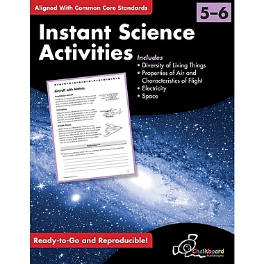 Chalkboard Publishing Instant Science Activities Workbook, Grades 5th - 6th