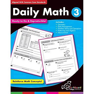 Chalkboard Publishing Daily Math Workbook, Grades 3rd