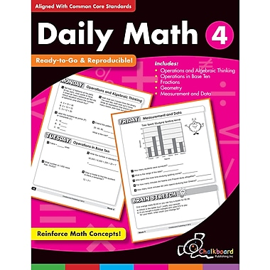 Chalkboard Publishing Daily Math Workbook, Grades 4th