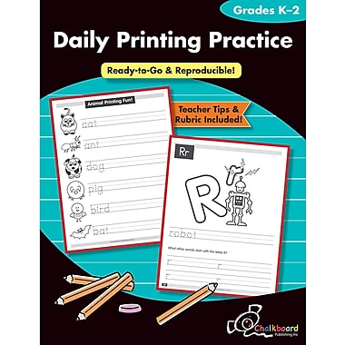 Chalkboard Publishing Daily Printing Practice Book, Grades Kindergarten - 2nd