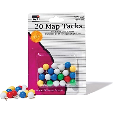 Charles Leonard® Map Tacks/Pins
