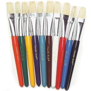Chenille Craft® Flat Wood Kraft Handle Brush