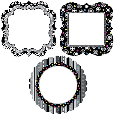 Creative Teaching Press™ 10in. Jumbo Designer Cut-Outs, BW Collection Chart Cards
