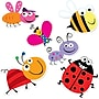 Creative Teaching Press 10 Jumbo Designer Cut-Outs, Bugs