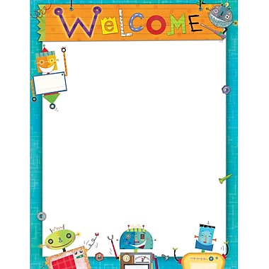 Creative Teaching Press™ Poster Chart, Welcome Riveting Robots