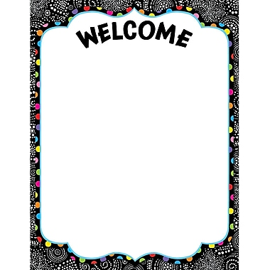 Creative Teaching Press™ Poster Chart, Black and White Collection Welcome