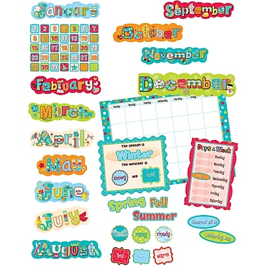 Creative Teaching Press™ Calendar Bulletin Board Set, Dots on Turquoise