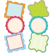 """Creative Teaching Press™ 6"""" Designer Cut-Outs, Dots on Turquoise Fancy Chart Cards"""