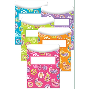 Creative Teaching Press™ Paisley Doodles Library Pocket