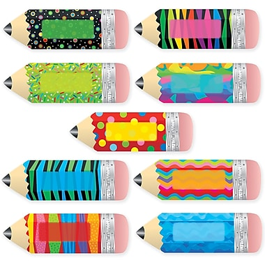Creative Teaching Press™ Poppin' Patterns 10in. Jumbo Designer Cut-Outs, Pencils
