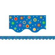 Creative Teaching Press™ Toddler - 12th Grades Pennant Border, Dots on Chocolate