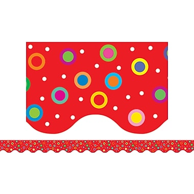 Creative Teaching Press™ Toddler - 12th Grades Wavy Border, Dots on Red